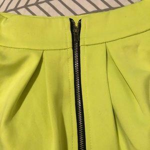 Tobi Skirts - Tobi Neon Yellow Scuba Skirt